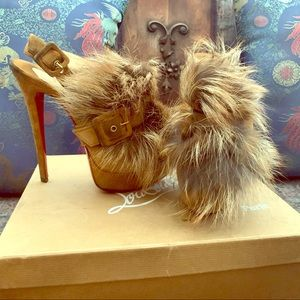 Real fox fur red bottoms